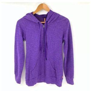 Lucy 1/2 Zip Pullover Sweatshirt Jacket Hooded S